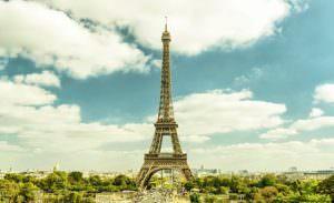 eiffel tower from trocadero, paris, france