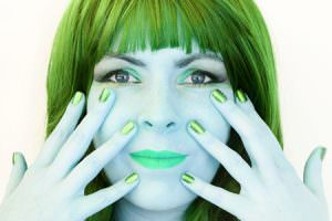 woman green with jealousy