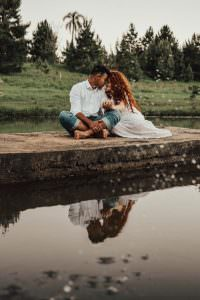 couple near water
